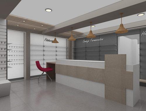 Diseño 3D de vanguardia para farmacias
